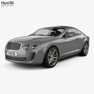 bentley continental supersports 3ds