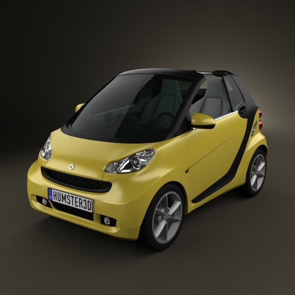 3d smart fortwo 2011