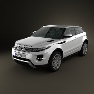 3d model range rover evoque
