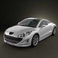 308 rcz 2011 3d model