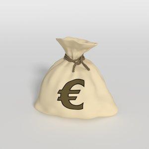 money bag 3d obj