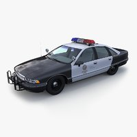 lapd chevrolet caprice police car 3d max