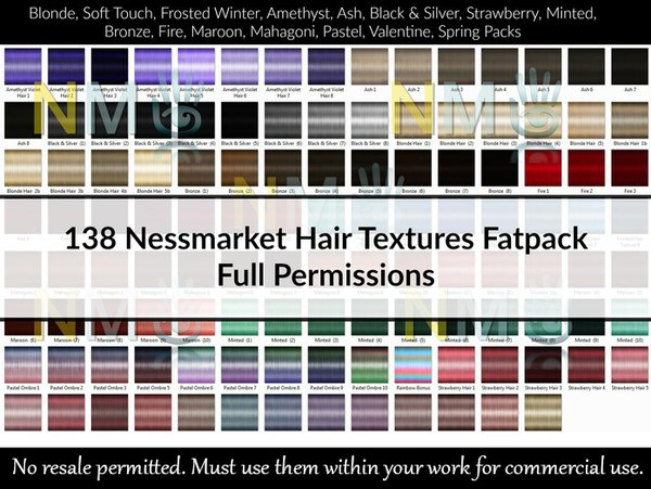 138 Hair Textures Gaming