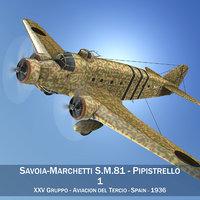 3ds savoia-marchetti sm 81 bomber