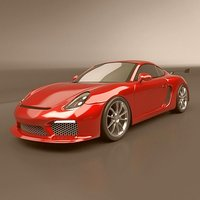3d porsche cayman 2015 sports car model