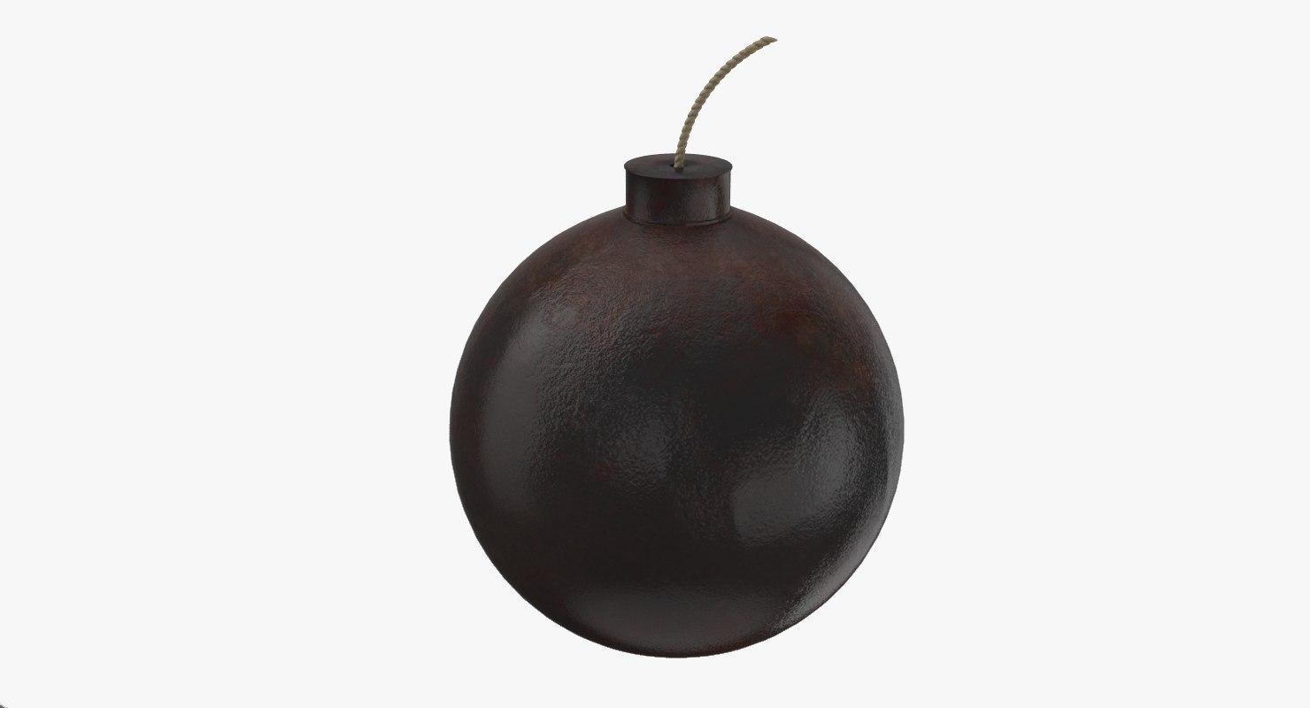 3D model rusty bomb fuse