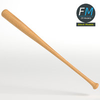 wooden baseball bat 3D model