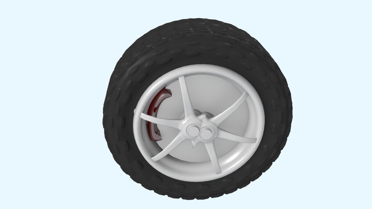 car tire wheel 3D
