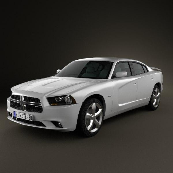 dodge charger 2011 3d model