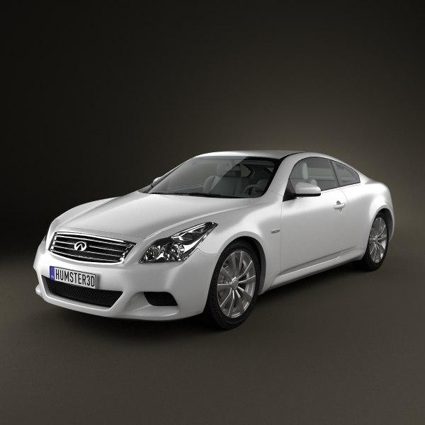 infiniti g37 coupe sports 3d model