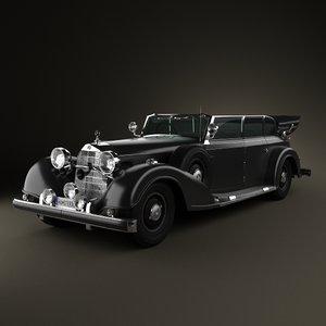 3d model mercedes 770 1936