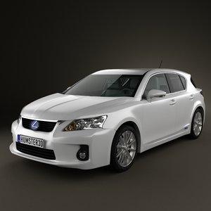 lexus ct 200h 3d model