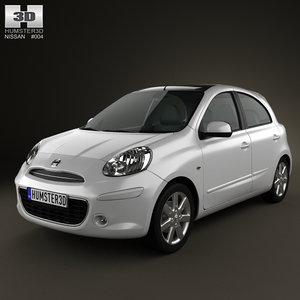 3d nissan micra march