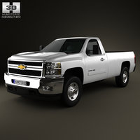 chevrolet silverado regularcab longbed 3d model