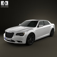 chrysler 300 2012 3d model