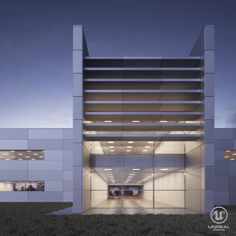 3D glass building