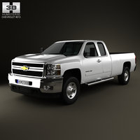 3ds max chevrolet silverado hd
