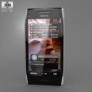 nokia x7 x7-00 3d model
