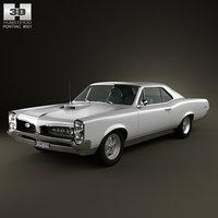 3d model pontiac gto 1967