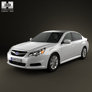 3d subaru legacy sedan 2010 model