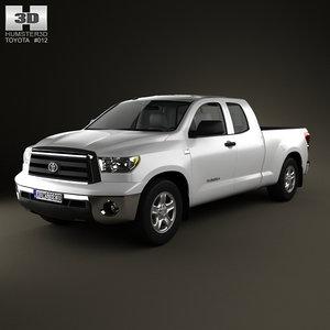 3d model toyota tundra doublecab 2011
