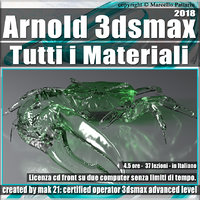 002_Arnold Tutti i Materiali 3ds max 2018 Volume 2.0 Cd Front