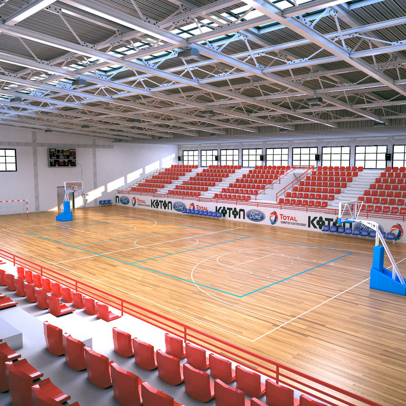 3D basketball stadium basket model