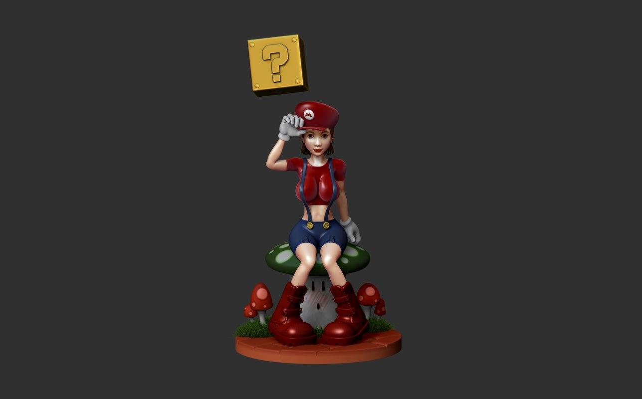 supermario girl 3D model