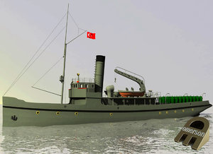 3d model of nusret minelayer