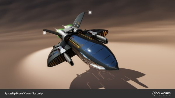 spaceship drone 3d model