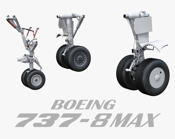 3D landing gear medium airplane