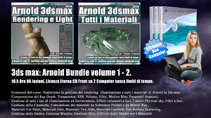 Arnold in 3ds max Bundle Volume 1.0 e 2.0 Cd Front