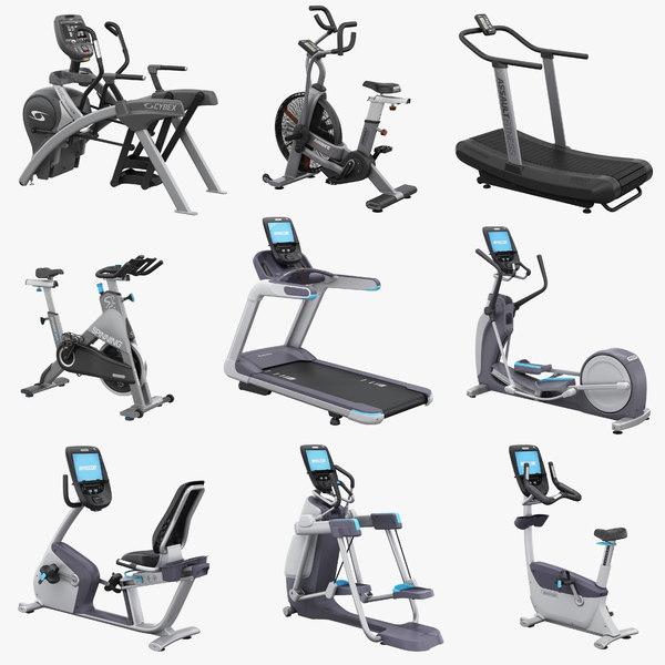 professional trainers treadmill elliptical 3d model