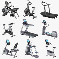 professional trainers treadmill elliptical 3d model
