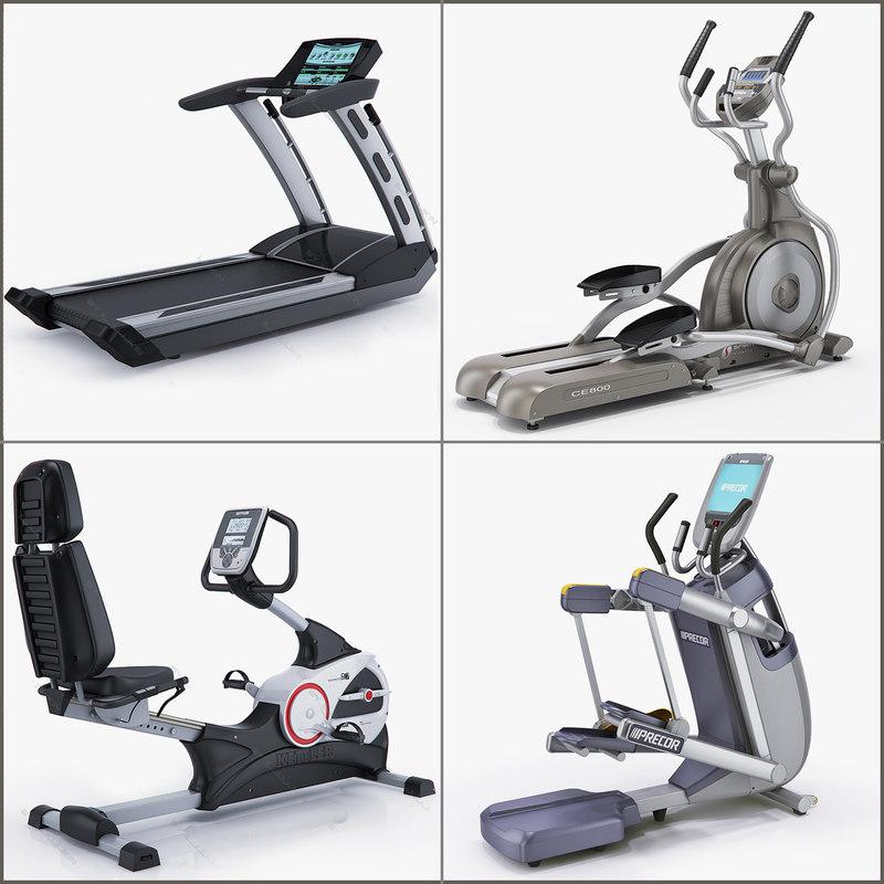 3d professional exercise bike matrix model