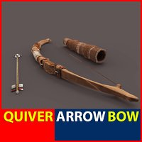 3d bow arrow quiver model
