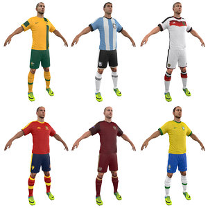 3d model soccer players