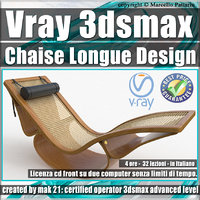 Vray 3ds max Chaise Longue Design Volume 1