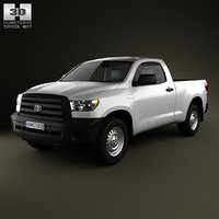 3d toyota tundra regular cab model