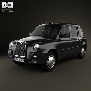 lti tx4 london taxi 3d obj