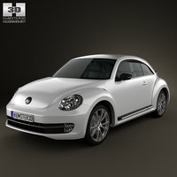 3d volkswagen beetle 2012