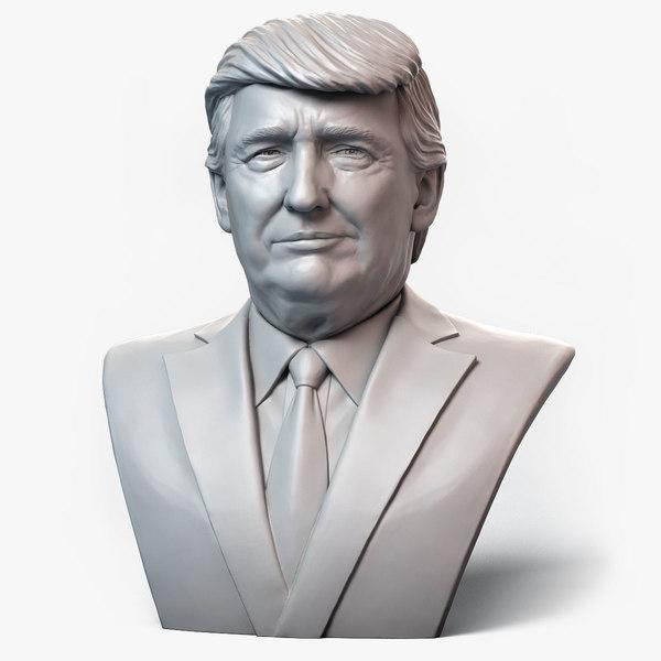 donald trump emotion 1 3D model