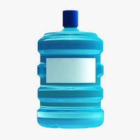 water bottle modeled 3D model