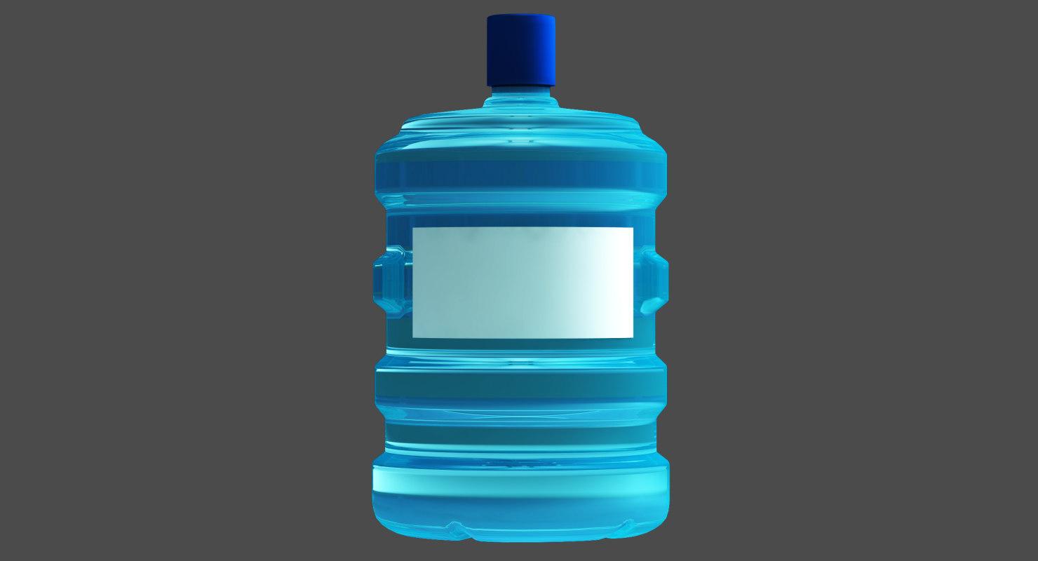water bottle modeled 3D model