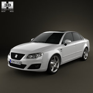 seat exeo sedan 2009 3d 3ds