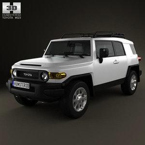 3d model toyota fj cruiser 2011