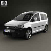 3ds max volkswagen caddy 2011