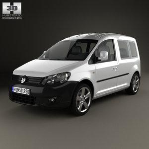 3ds max volkswagen caddy 2011