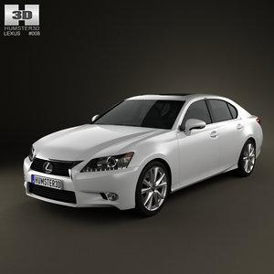 3d model of lexus gs 2012