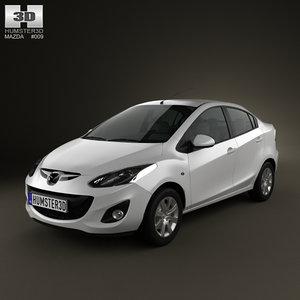 3d mazda 2 sedan 2011 model